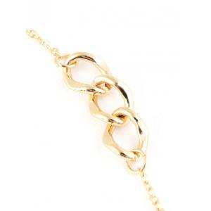 Faux Gem Oval Circle Sweater Chain -