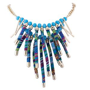 Rope Layered Tasseled Necklace -