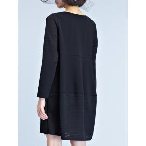 Knitted Hem Smock Dress -