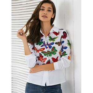 Colorful Butterfly Pattern Shirt -