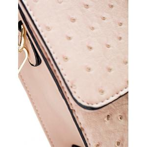 Embossing Magnetic Closure Double Rivet Crossbody Bag -