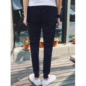 Lace-Up Beam Feet Stripe Embellished Jogger Pants -