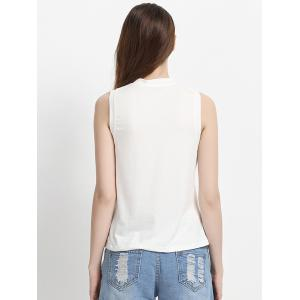 Round Neck Letter Tank Top -