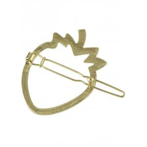 Alloy Strawberry Hollow Out Hairgrip -