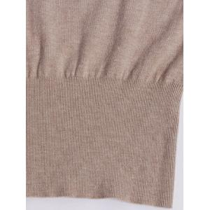 Long Sleeve Fitted Knit Jumper Dress - KHAKI ONE SIZE