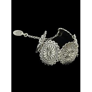 Alloy Engraved Floral Pattern Bracelet -