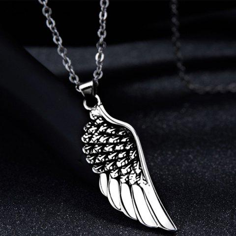 Best Punk Stoving Varnish Middle Wing Pendant Necklace - SILVER  Mobile