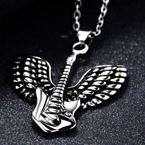 Cheap Punk Steel Color Flying Wings Pendant Necklace - SILVER  Mobile