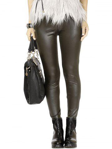 Shop Chic High Waist Leather Leggings For Women -   Mobile