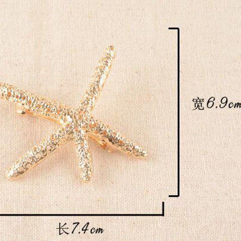 Outfit Retro Style Women's Rhinestone Embellished Starfish Shape Hairpin - CHAMPAGNE  Mobile