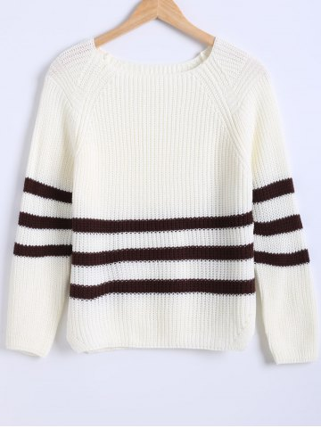 Striped Hit Color Knitted Pullover