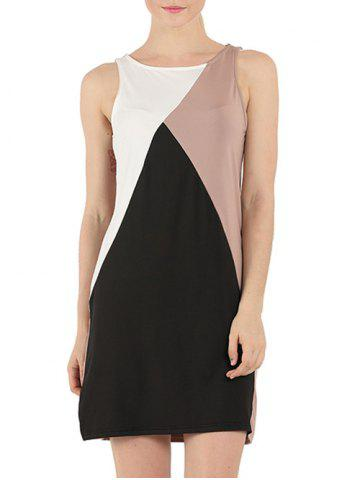 Outfit Sleeveless Color Block Shift Dress