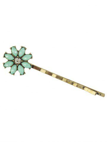 Fancy Rhinestone Floral Hairpins Jewelry Set - GOLDEN  Mobile