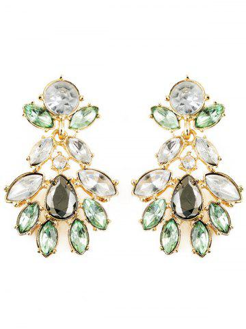Online Faux Crystal Oval Water Drop Earrings