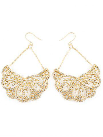 Trendy Rhinestoned Water Drop Wedding Jewelry Earrings