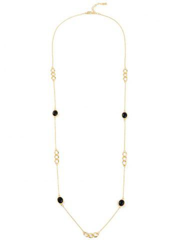 Best Faux Gem Oval Circle Sweater Chain