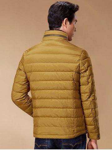 Hot Stand Collar Geometric Padded Jacket ODM Designer - 3XL GINGER Mobile