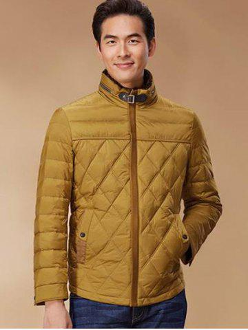 Hot Stand Collar Geometric Padded Jacket ODM Designer - XL GINGER Mobile