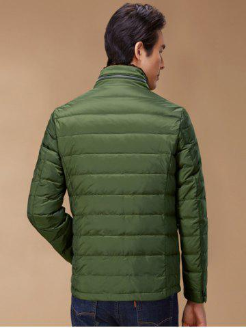 Fashion Stand Collar Geometric Padded Jacket ODM Designer - 2XL GREEN Mobile