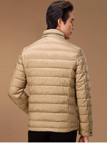 Sale Stand Collar Geometric Padded Jacket ODM Designer - 2XL KHAKI Mobile