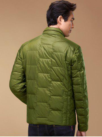 Chic Zipper Up Geometric Padded Jacket ODM Designer - 2XL GREEN Mobile