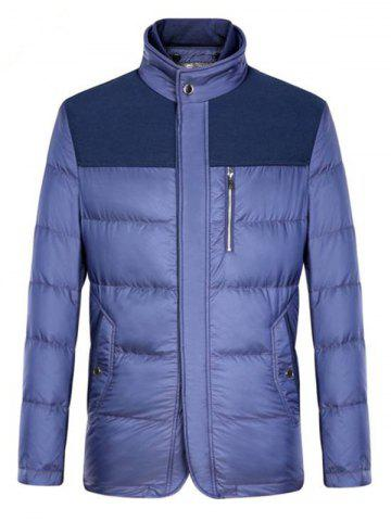 Épissage Zipper-Up poches design Down Jacket Pourpre M