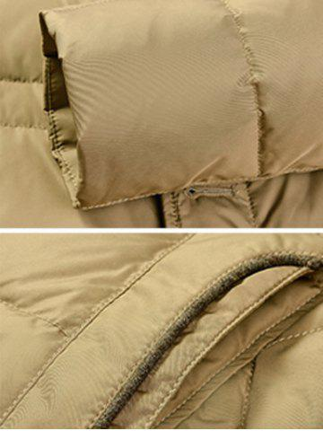 Outfits Zipper Button Closure Stand Collar Padded Jacket ODM Designer - L KHAKI Mobile