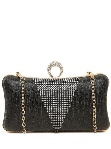 Shop Clip Chains Ring Rhinestone Evening Bag