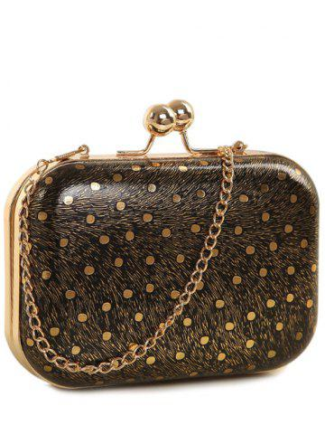 Discount Kiss Lock Dot Chains Evening Bag