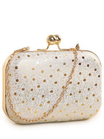 Affordable Kiss Lock Dot Chains Evening Bag GOLDEN