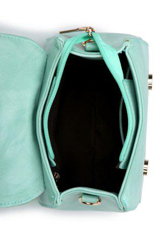 Best Magnetic Metal Flap Stitching Tote Bag - GREEN  Mobile