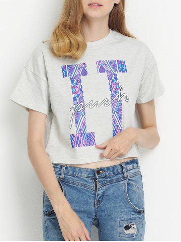 Shop Jewel Neck Letter Short Sleeve Tee