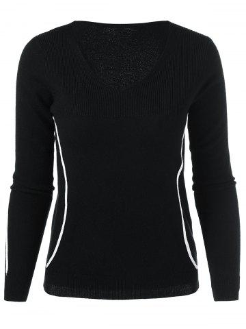Unique V Neck Long Sleeve Knitwear