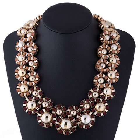 Sale Cloth Rope Embellished Alloy Necklace