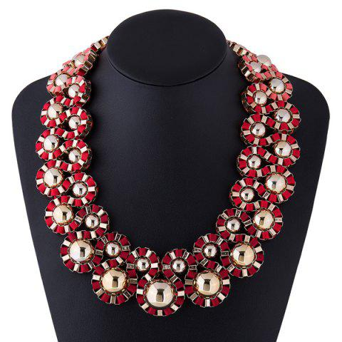 Chic Bent Cloth Rope Embellished Alloy Necklace