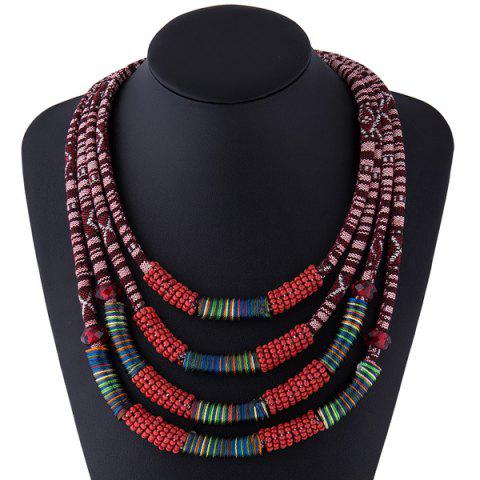 Outfits Winding Cloth Rope Layered Necklace