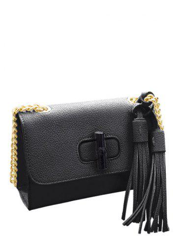 Cheap Tassels Chain PU Leather Crossbody Bag