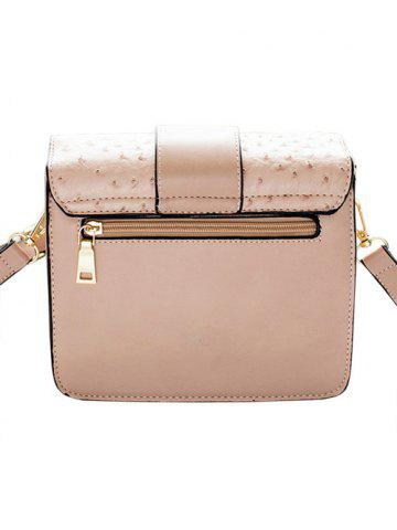 Discount Embossing Magnetic Closure Double Rivet Crossbody Bag - OFF-WHITE  Mobile