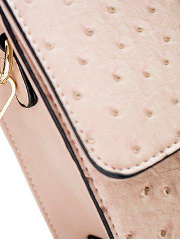 Outfits Embossing Magnetic Closure Double Rivet Crossbody Bag - OFF-WHITE  Mobile