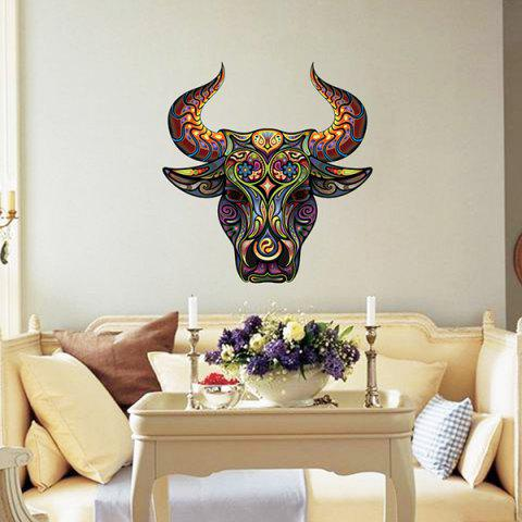 Outfits Color Decorative Tauren Pattern Removeable Wall Sticker Animals COLORMIX