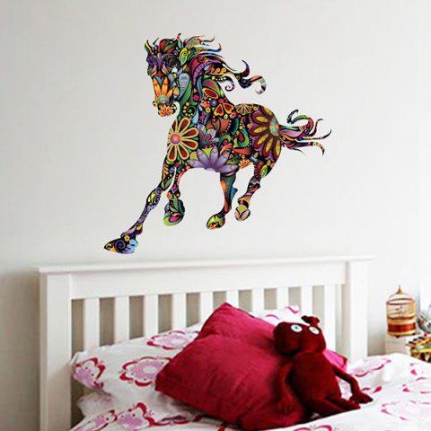 Shops Abstract Colorful Pentium Horse Flower Pattern Removeable Wall Sticker - COLORMIX  Mobile
