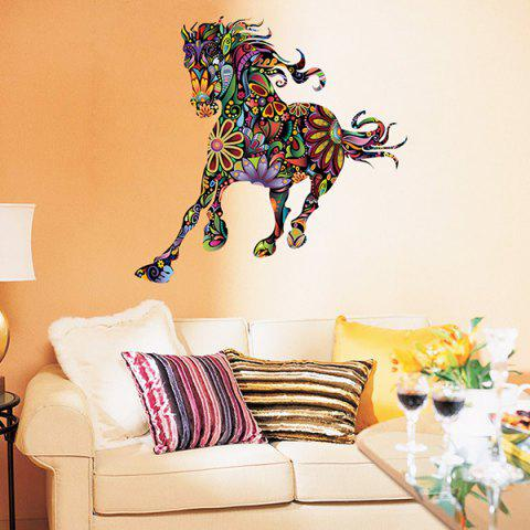Best Abstract Colorful Pentium Horse Flower Pattern Removeable Wall Sticker - COLORMIX  Mobile
