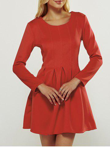 Online Long Sleeve Box Pleated Dress