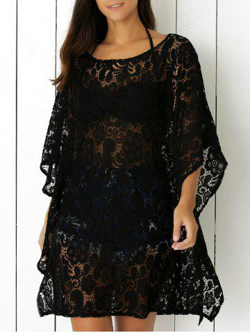 Hot Openwork Lace Cover Up Dress