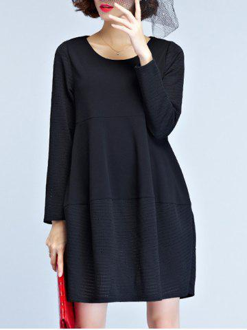 Fancy Knitted Hem Smock Dress