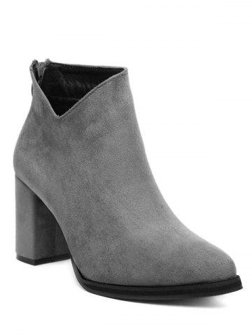 Shops Pointed Toe Chunky Heel Ankle Boots