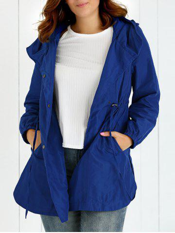 Outfit Plus Size Hooded Drawstring Utility Coat
