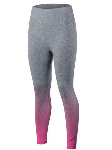 Shops Gradient Color Sport Running Leggings ROSE RED S