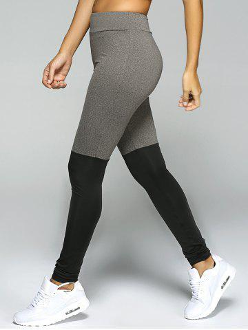 Stretchy Sport Leggings - Black And Grey - S