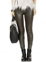 Chic High Waist Leather Leggings For Women -